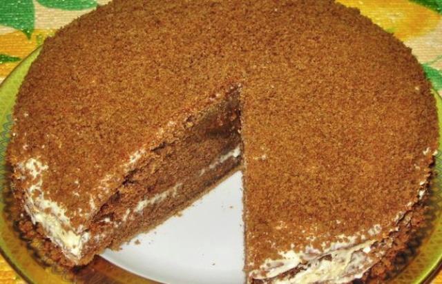 Кавовий торт в мультиварці