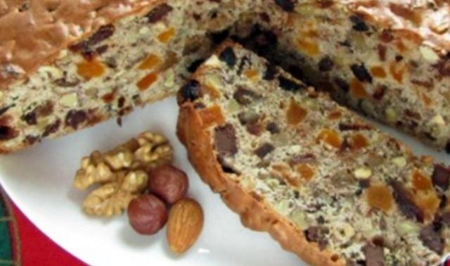 Кекс з горіхами і сухофруктами в мультиварці