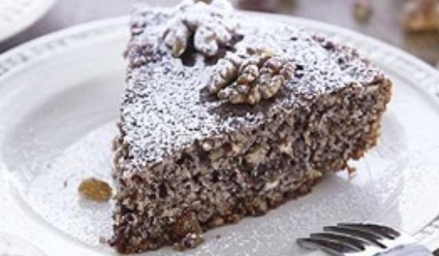 Маково-горіховий пиріг в мультиварці