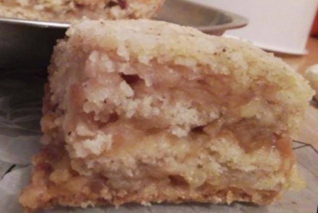 Насипний яблучний пиріг в мультиварці