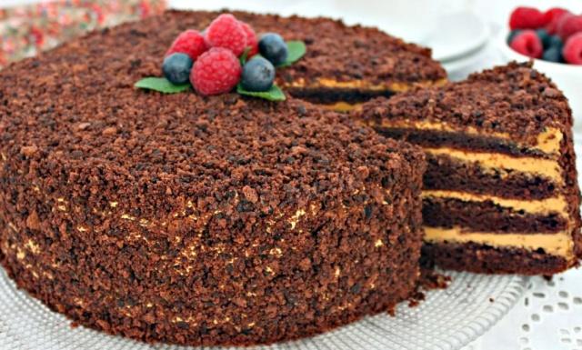 Шоколадний торт Пеле в мультиварці